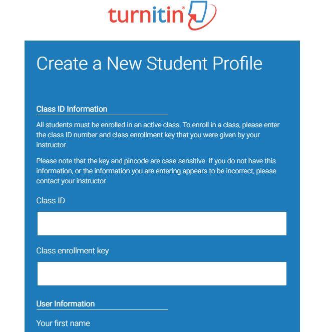 register student account