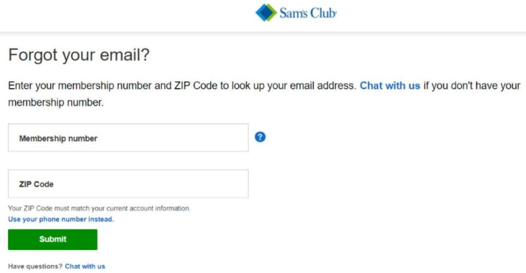 sam's club login details