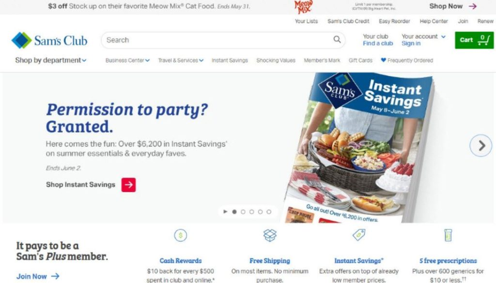 sam's club login