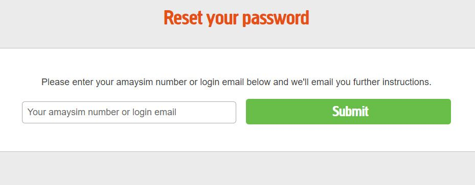 my amaysim sign in password