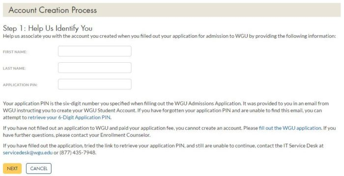 my wgu sign in online