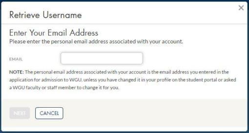 wgu student portal login