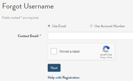 recover account username