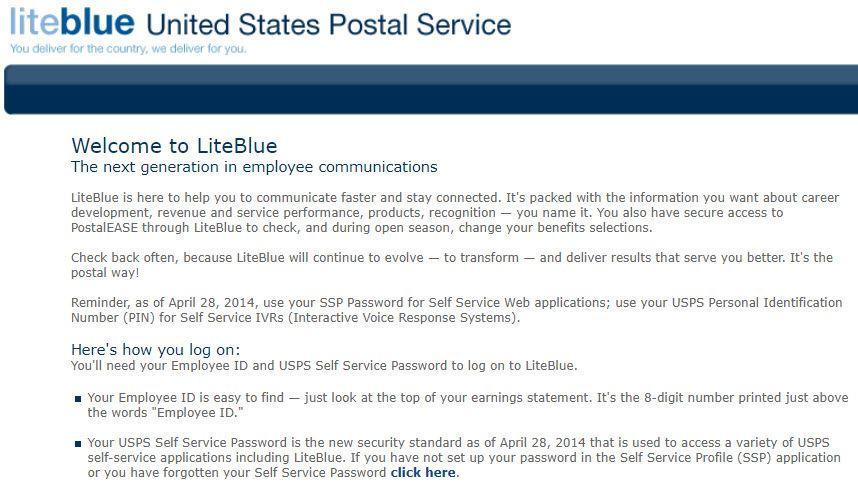 Login to USPS Liteblue WPS Employee Portal