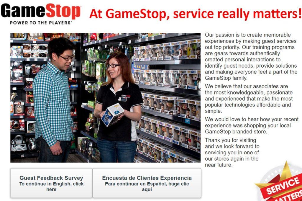 tellgamestop survey at www-tell gamestop - com
