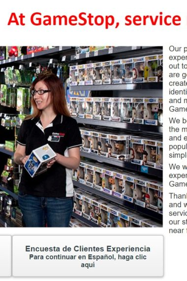 tellgamestop survey at www-tell gamestop - com