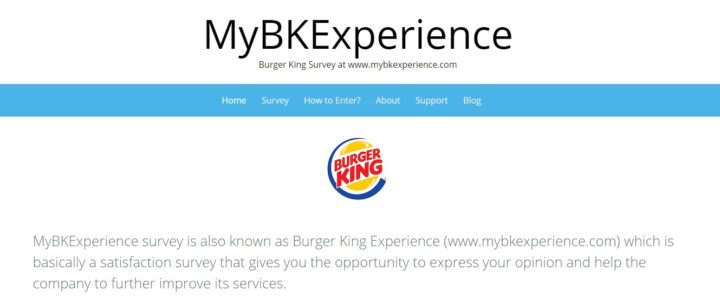 Burger King Experience Survey Official Website Home Page