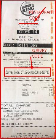 Burger King Receipt