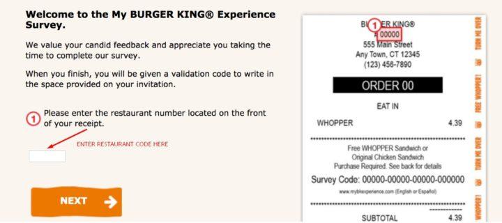 Restaurant Code Box on BKExperience.com